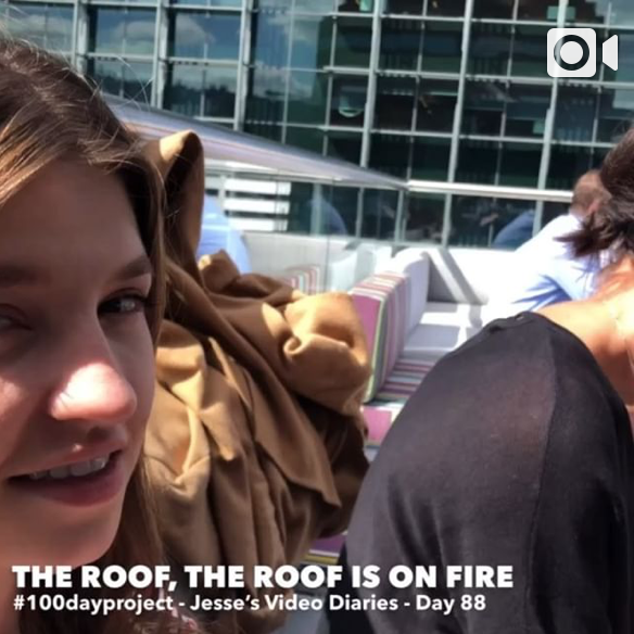 DAY 88  - THE ROOF, THE ROOF IS ON FIRE -