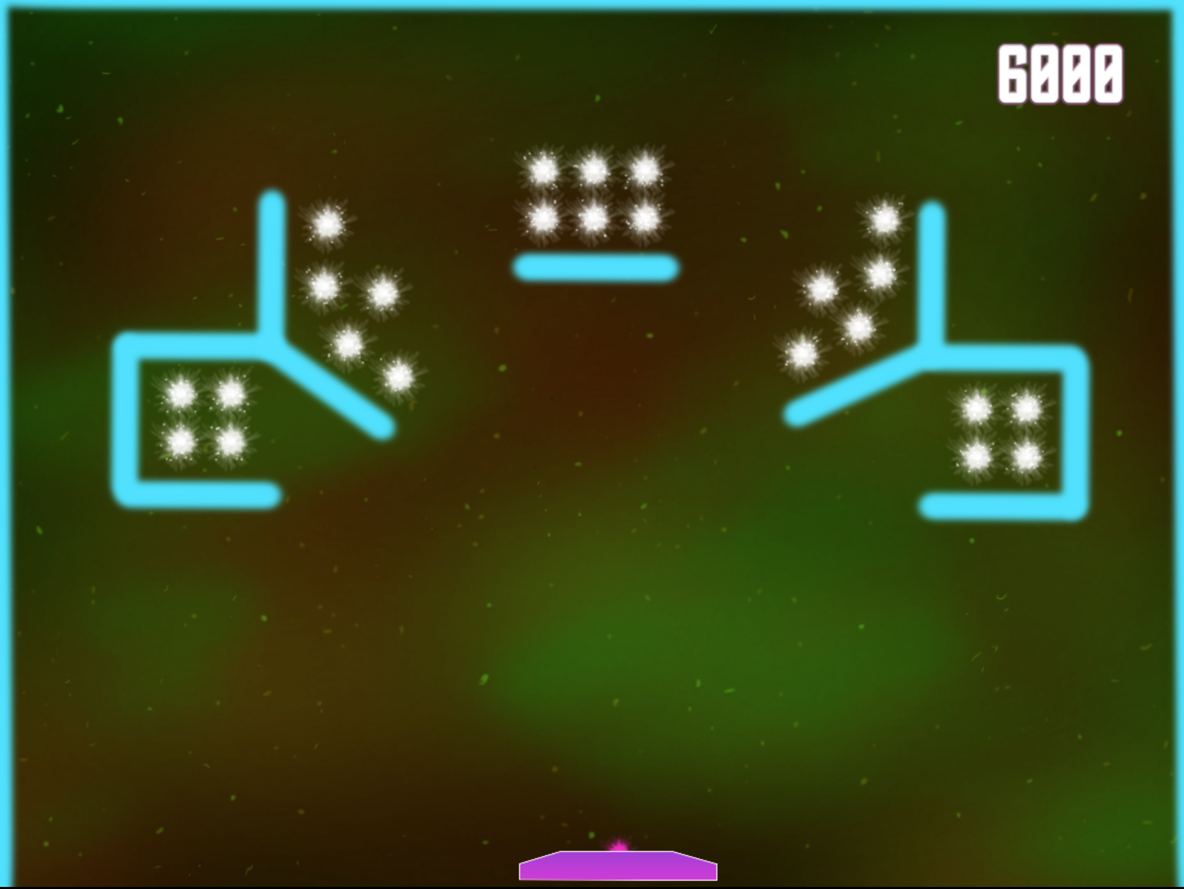 Level 3 - Shooting Stars:  Combines ideas from the first two levels, player must balance a few different challenges before we add a new wrinkle.