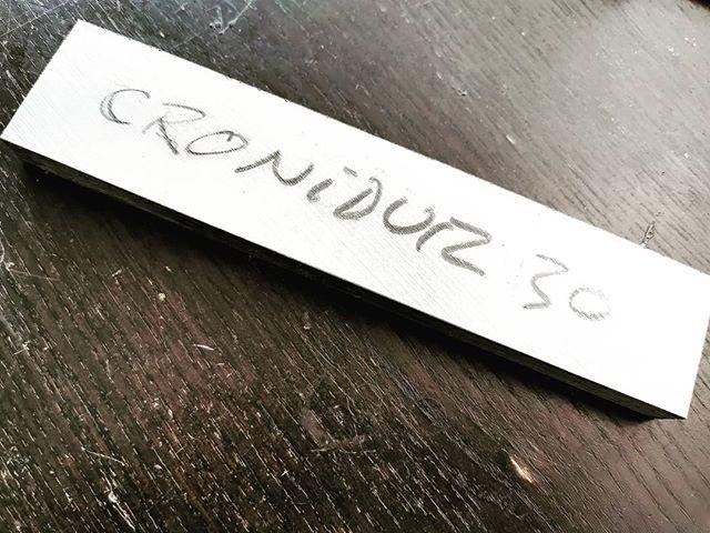 Starting a special project in Cronidur 30 ... a whole lot of machining on the mini mill... #cronidur30 #integralknife #lovelessdesign #achimwirtz @linknives