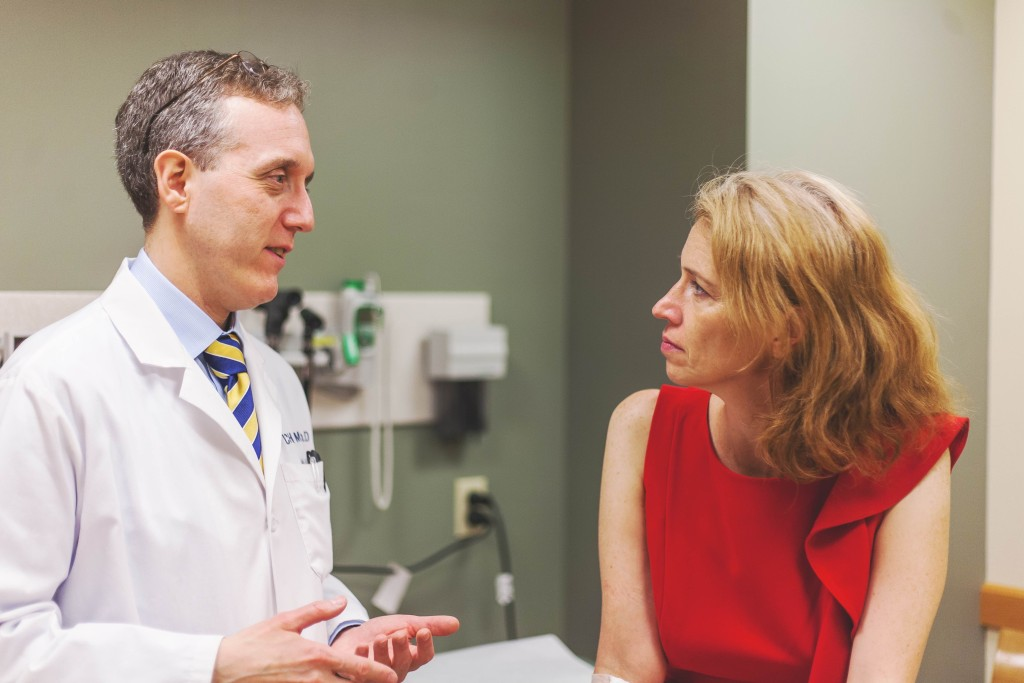 With my doctor, Jedd Wolchok. Courtesy of the Cancer Research Institute
