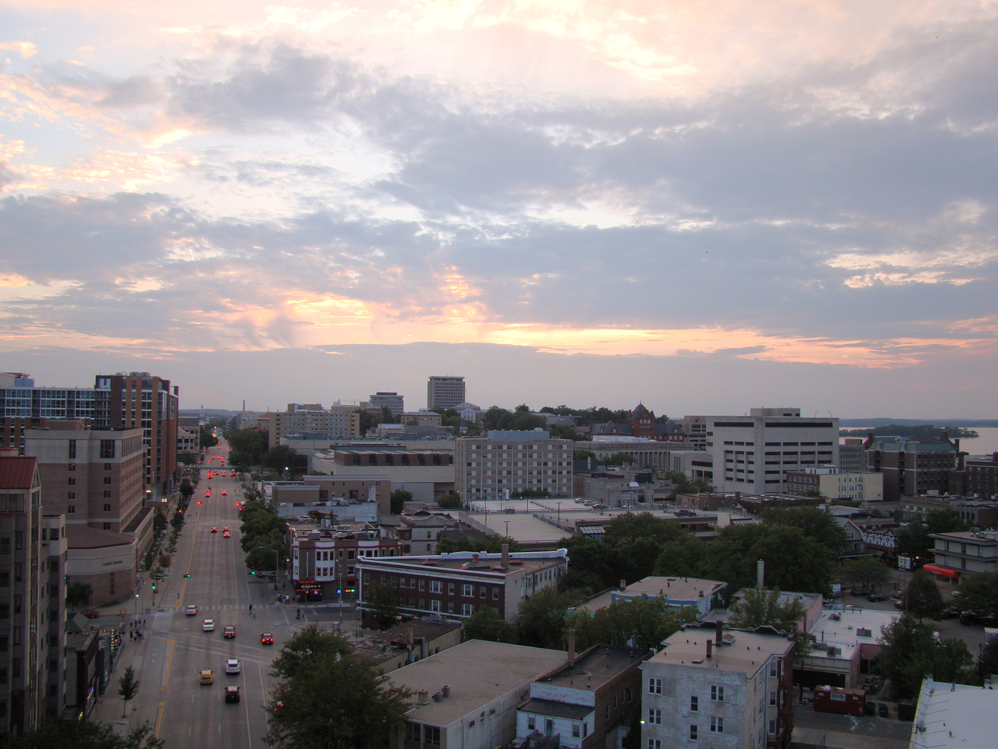 Enjoy beautiful views of Madison Wi from the Aberdeen Apartments