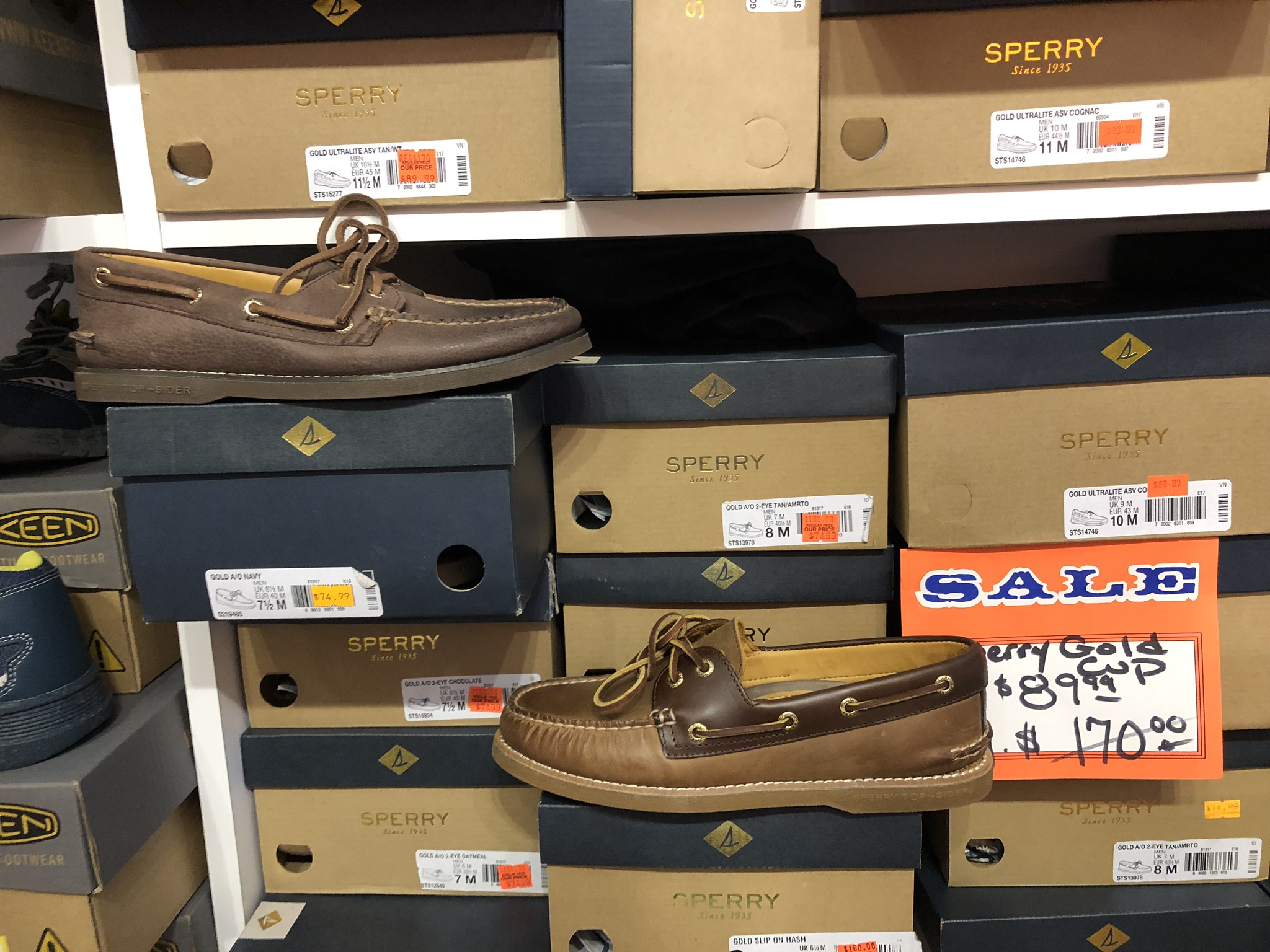 Sperry Gold Cup Men's Boat Shoes - Reg Price $170, Our Price $89.99