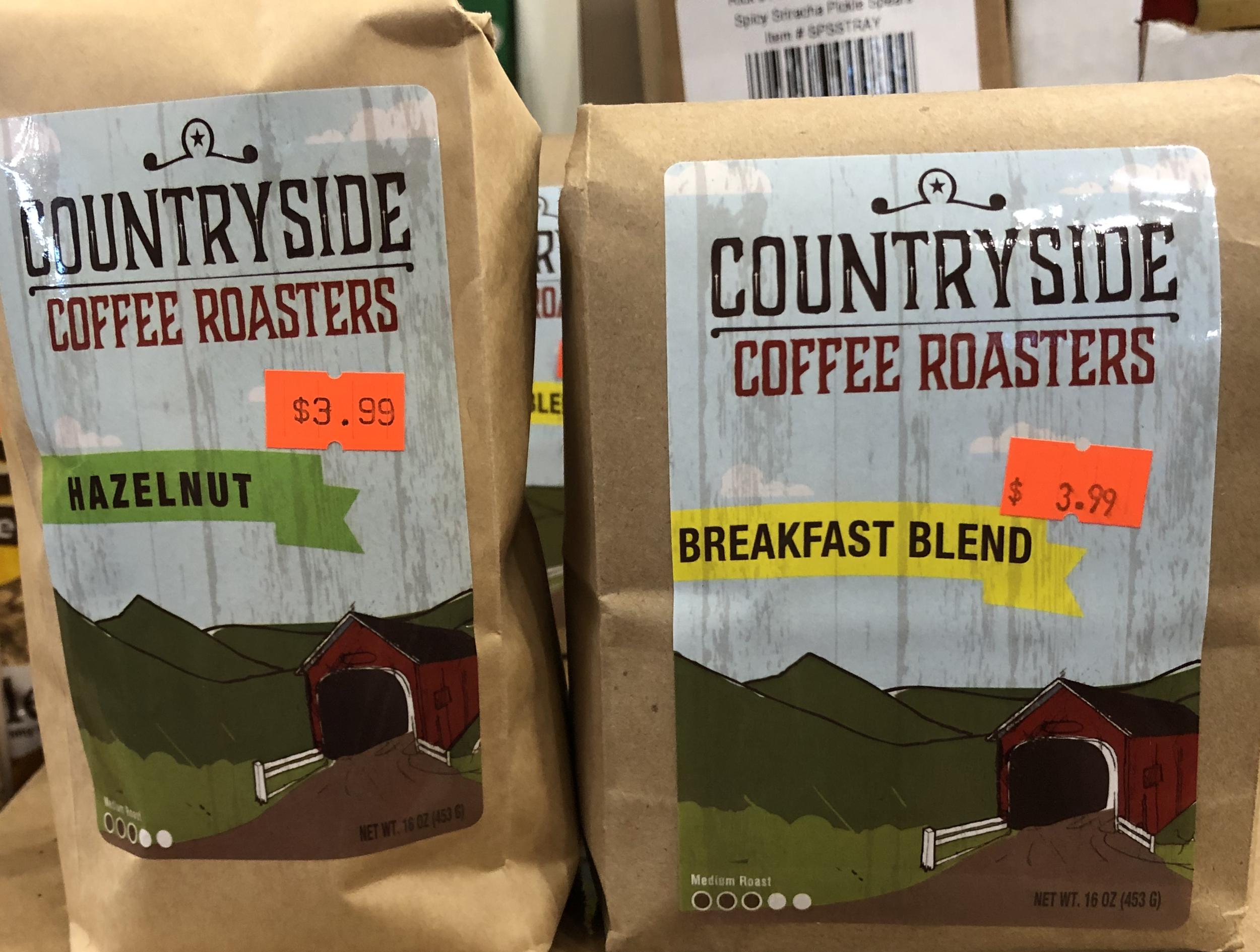 Countryside Roasters Coffee - Hazelnut & Breakfast Blend