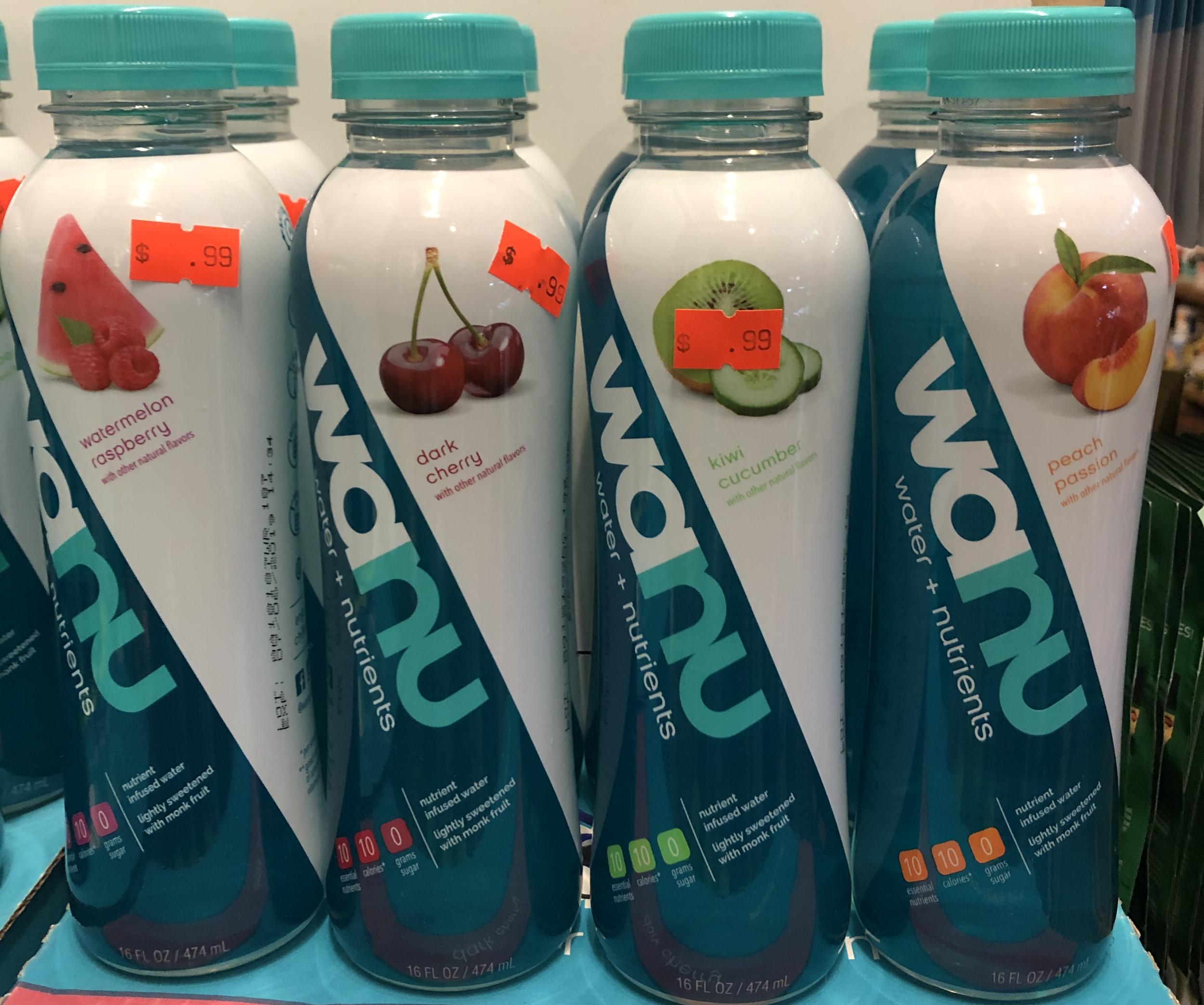 Wanu Water + Nutrients - Watermelon Raspberry, Dark Cherry, Kiwi Cucumber & Peach Passion