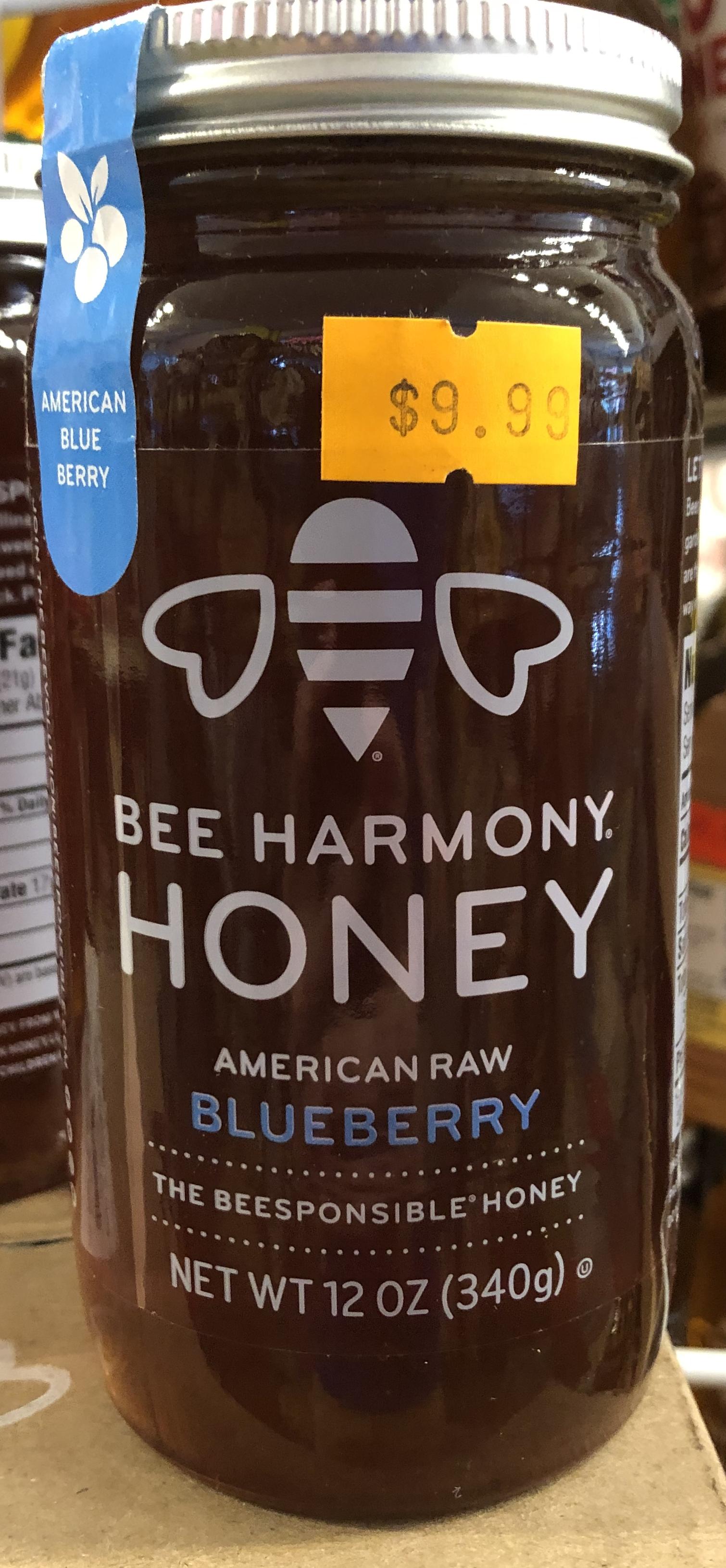 Bee Harmony Honey - American Raw Blueberry