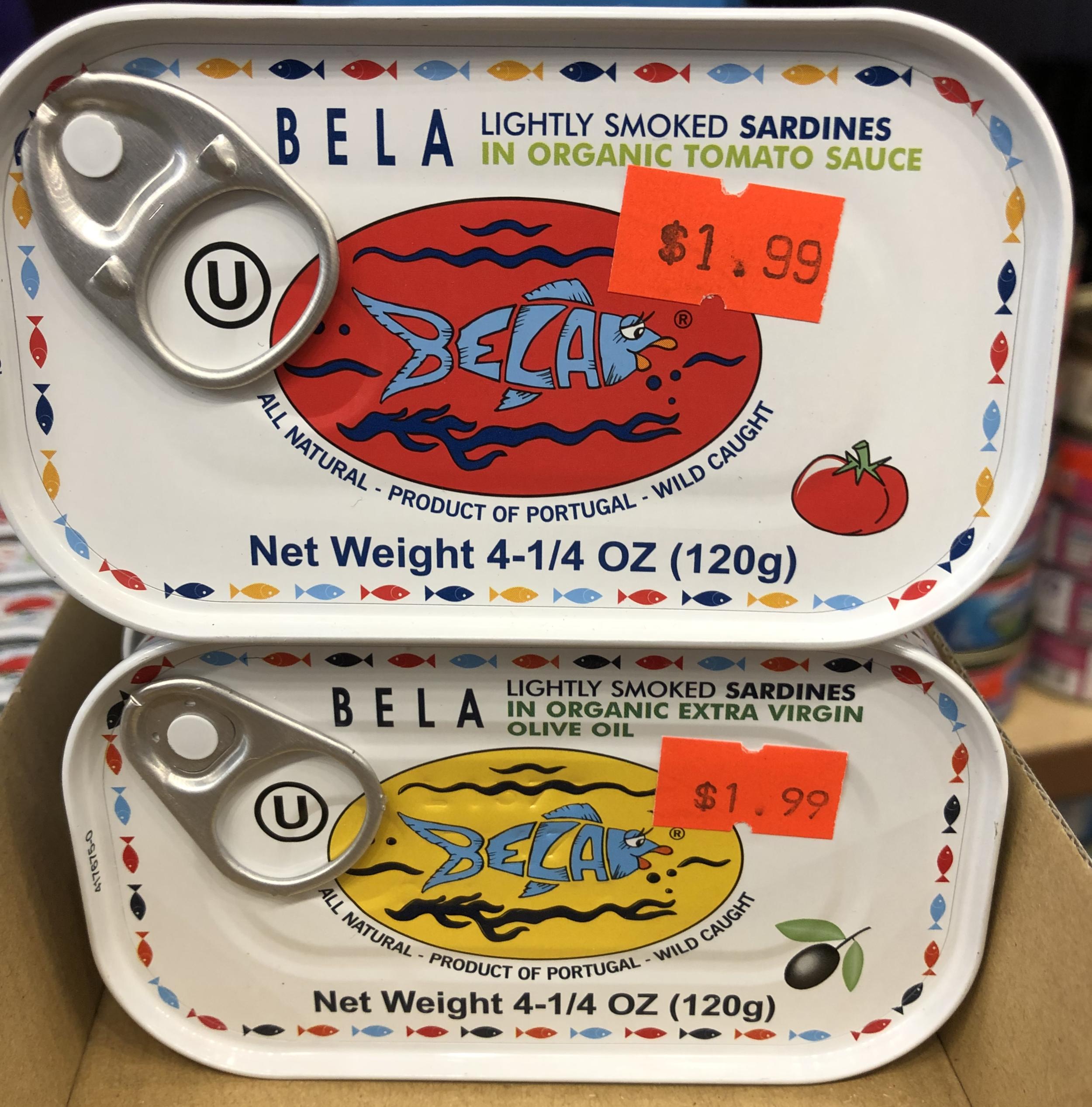 Bela Lightly Smoked Sardines in Organic - Tomato Sauce & Extra Virgin Olive Oil