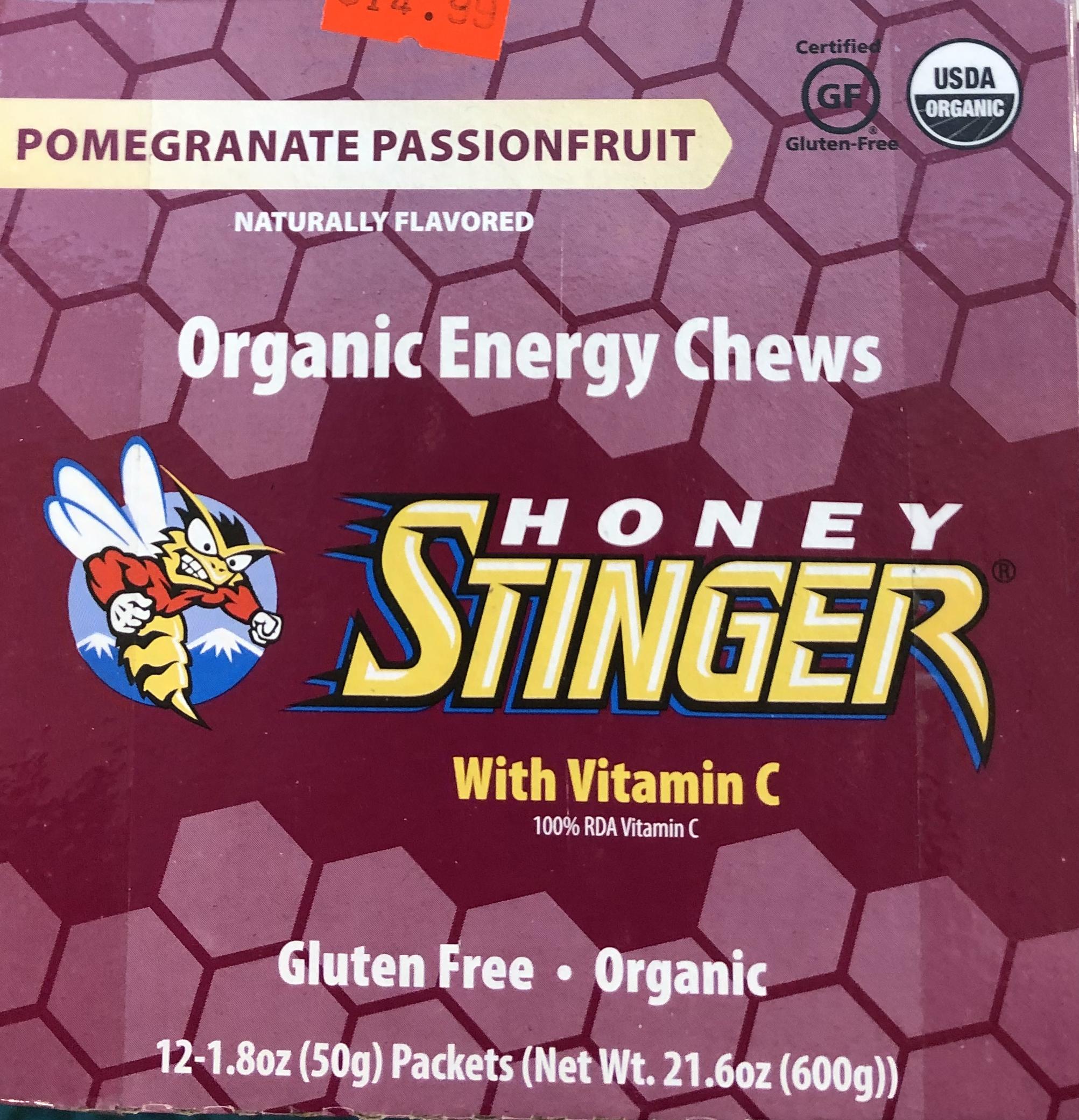 Honey Stinger Organic Energy Chews - Pomegranate Passionfruit