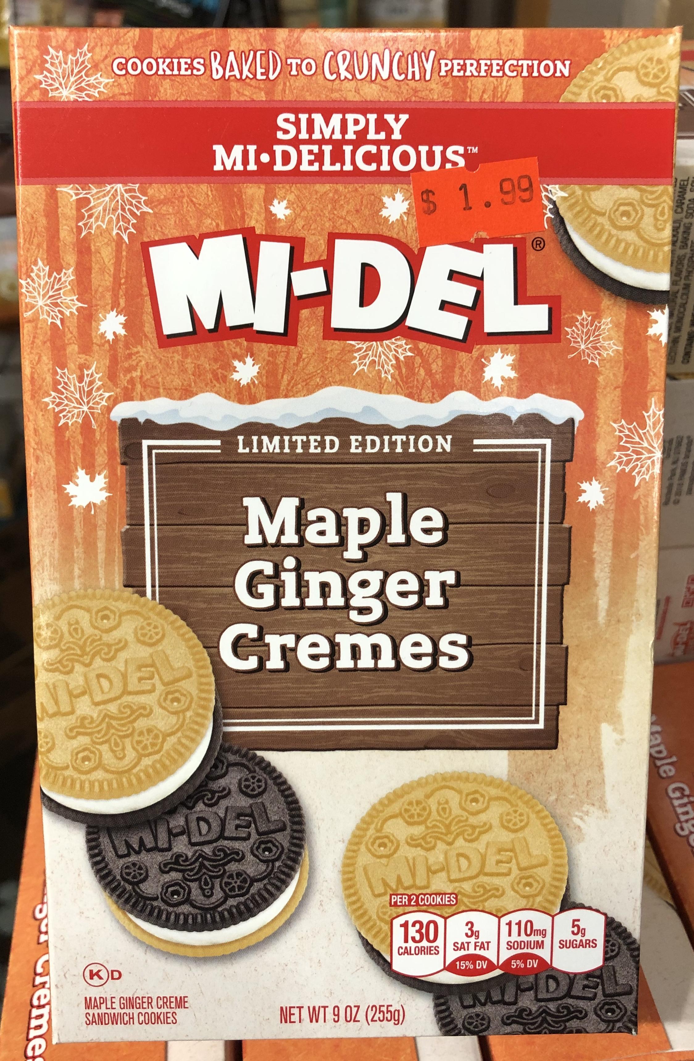 MI-DEL Maple Ginger Cremes