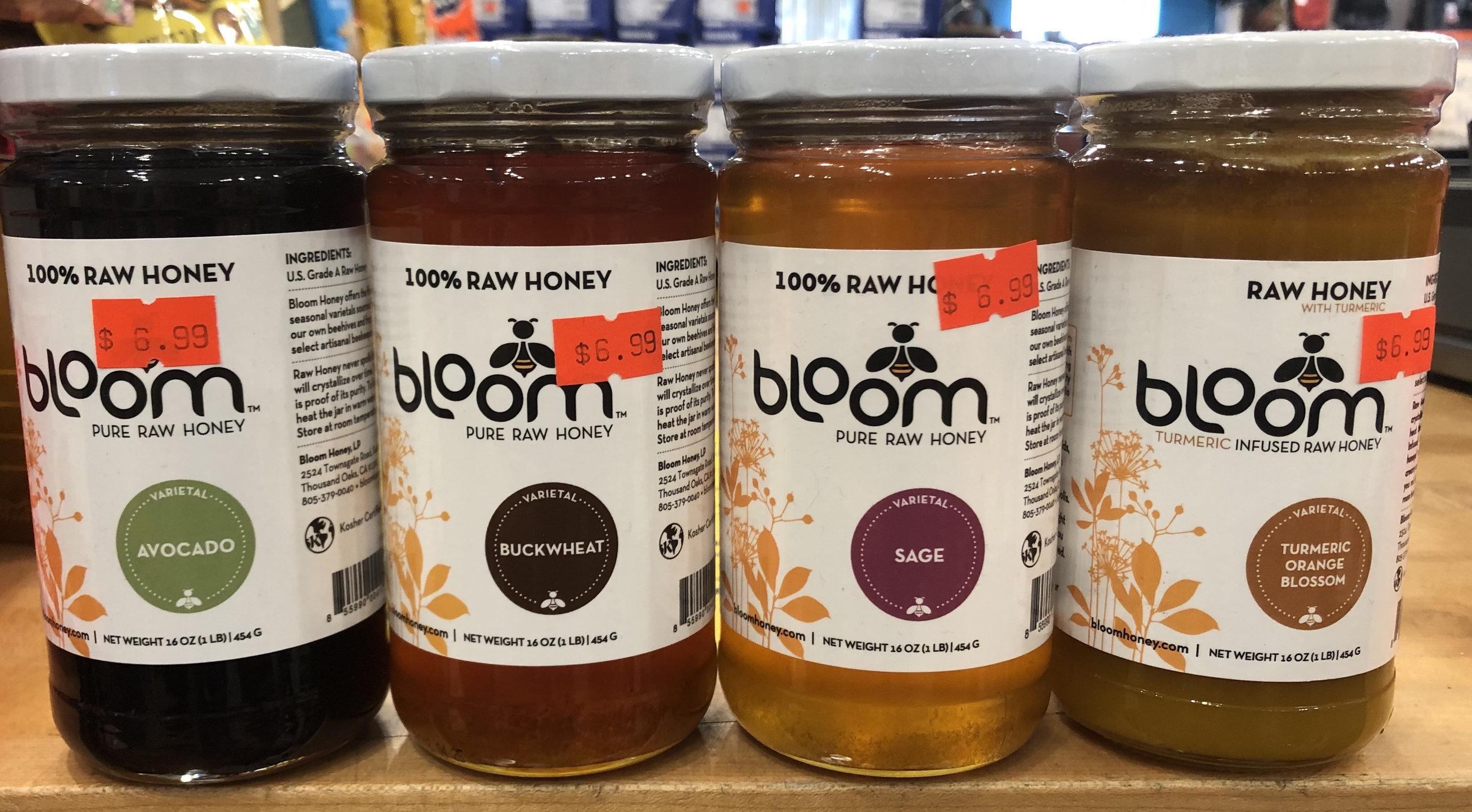 Bloom 100% Raw Honey - Avacado, Buckwheat, Sage, Turmeric Orange Blossom