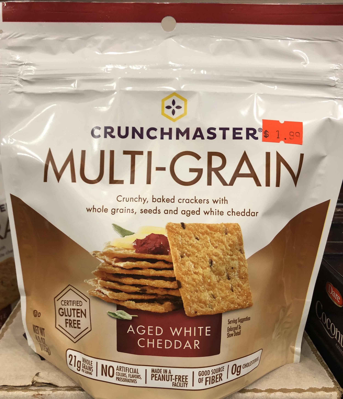 Crunchmaster Multi-grain Crackers - Aged White Cheddar