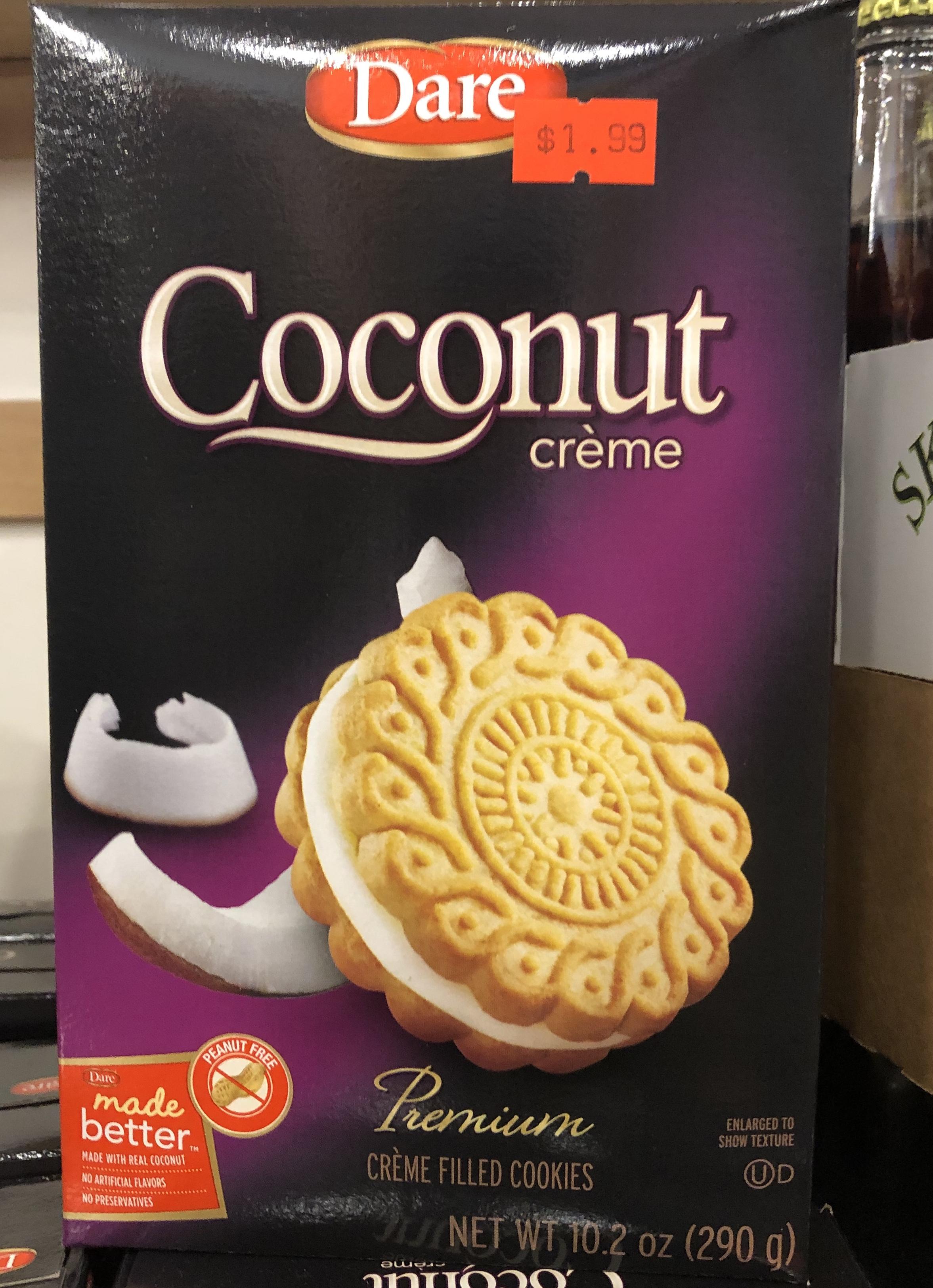 Dare Coconut Creme Cookies