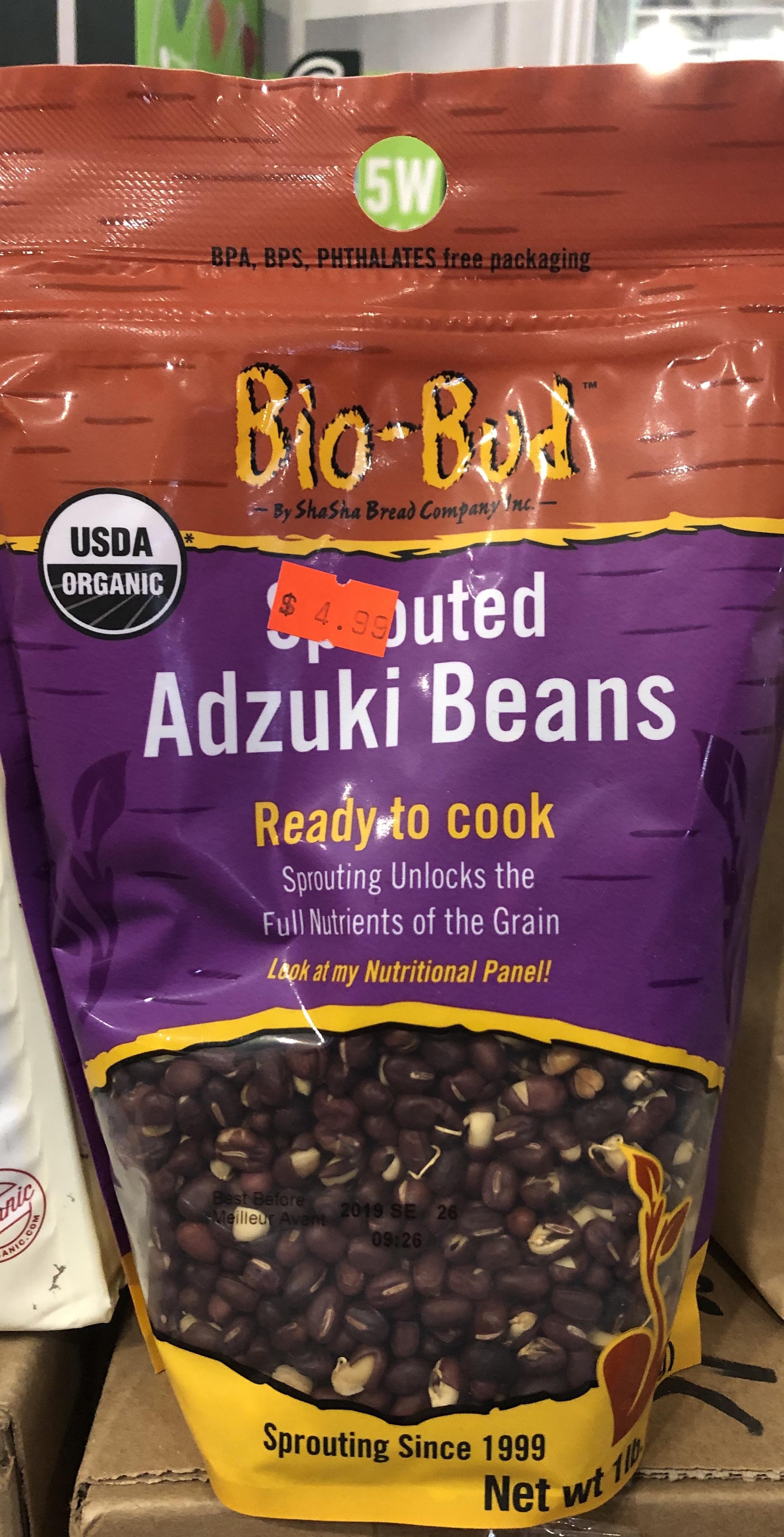 Bio-Bud Sprouted Adzuki Beans