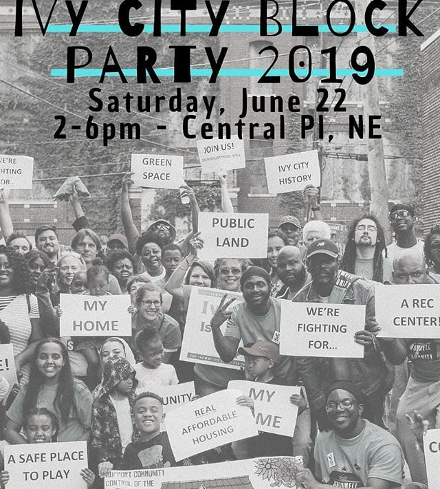Join us this Saturday from 2-6pm for our 2nd annual #ivycityblockparty . We will have a bounce house for the kids and plenty of free food. Hope to see you there.