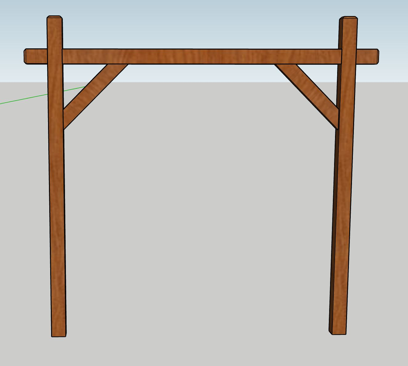Classic arbor - A simple yet elegant piece that allows for many different decorating styles.