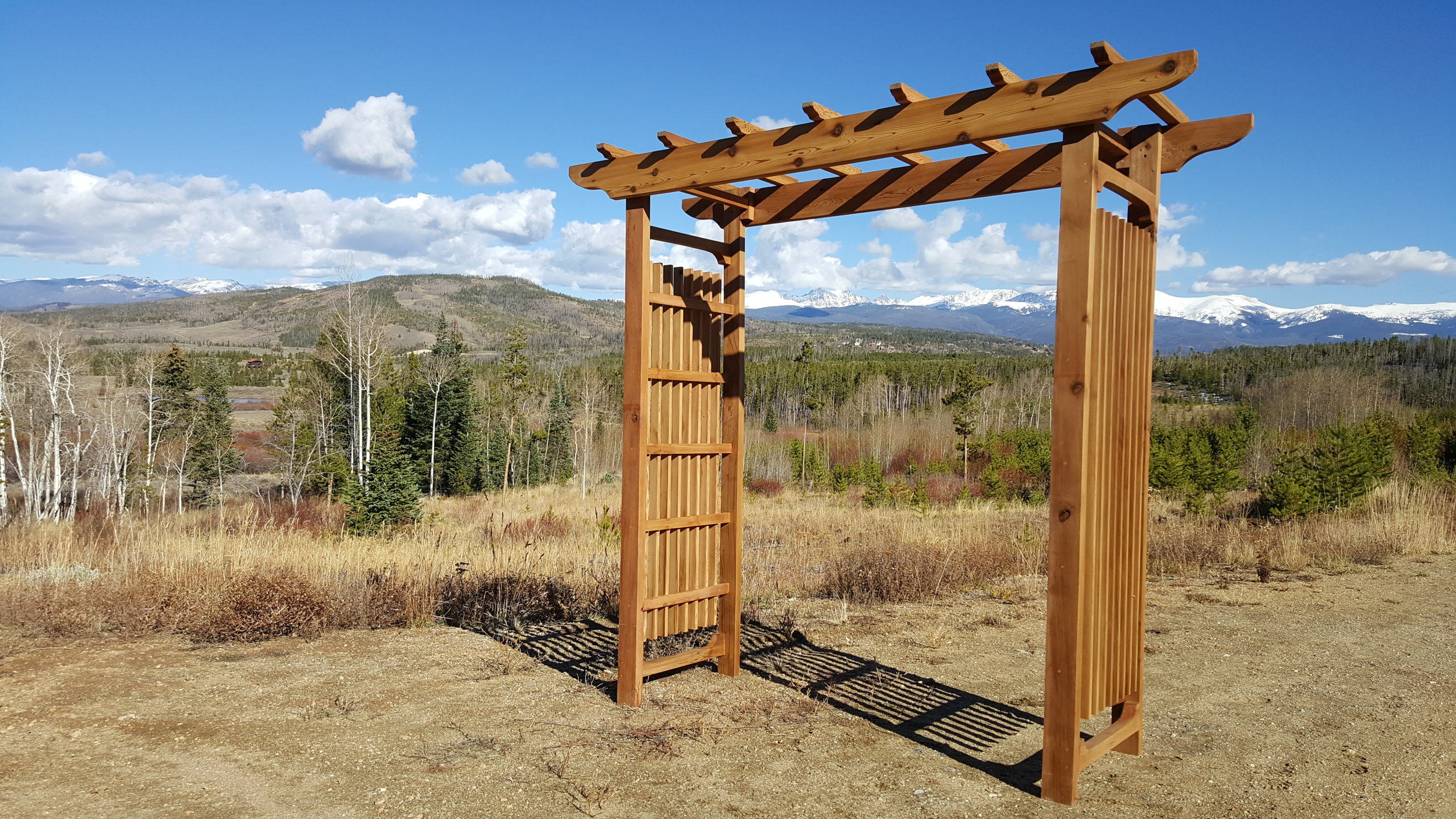 Custom arbors - Build the perfect arbor for your garden or wedding.