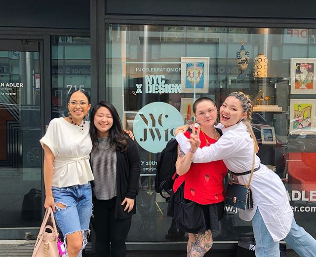 Bittersweet to say goodbye to these amazing galz. I had such a blast connecting with them and discussing their meaningful practice. We are trailblazers that are actively making room for ourselves in the contemporary jewelry field. Thank you endlessly to @nycjewelryweek and for the One for the Future initiative and @nycxdesign for working with them to represent us! Thank you to the @jonathanadler team for helping us with displays and the wonderful company as well. Of course a huge thank you to @ochannelldesigns , @tiffanys_jewelz , @bellaneyman , and @jeveuxjustemonter . I'm so grateful to have all of you in my life. This adventure is wild. Never in a million years would I think I would be in this position. Thank you to everyone who supports me, loves me, understands me, and helps me grow. All of you make this world a liveable place. 🖤 . . . . #studiorat #metalsmith #onthebench #instasmithy #nonbinary #enby #nonbinaryjewelry #snagmember #snagmetalsmith #ajf #joyeria #contemporaryart #contemporaryjewellery #bijoucontemporain #schmuck#schmuckdesigner #internationaljewelry #powdercoat #powdercoating #metalsmithchallenge #metalsmithing #metalsmithsocietystudio #metalsmithsocietyshare #metalsmithsociety #baltimoremetalsmith #baltimoreart #internationalmetalsmith #wearableart #metalsmithchallenge #metalsmith #pinkratcollective