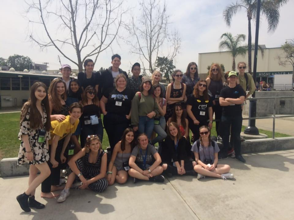 Thespian Troupe 3805 and attendees at the 2018 California State Thespian Festival!