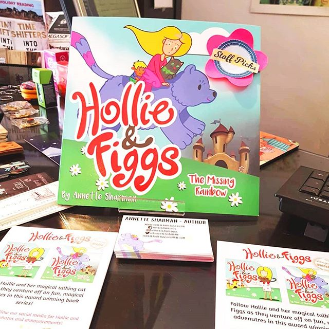 I can't believe that Hollie and Figgs books are being displayed in a bookshop in Portugal. They look great 💕  Thanks to Julie Hodgson @thebookmarkevora 💕💕 TO BUY just type Hollie and Figgs into the search engine at Amazon or Waterstones. 😍 . . . . #fairytale #bookshop #childrensbooks #instagram #childhood #teachers #catsofinstagram #kidslit #cutecats #school #bookshop #pintrest #illustrate #kids #illustrate #adventure #adventuretime #advertisement #promotion #hollieandfiggs #kidsbook #magical #instacat
