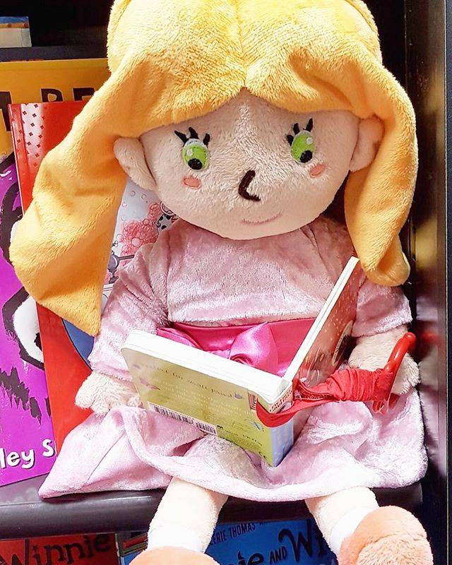 "Hollie is celebrating Read a Book Day today by reading one of her favourite books...Hollie and Figgs! The books are available online NOW, just search ""Hollie and Figgs"" on Amazon or Waterstones. 💞👸🏼🐱 Get transported into the fantastical world of Hollie and Figgs, where Hollie and her cuddly companion Figgs the talking cat head out on lots of fun magical adventures!"