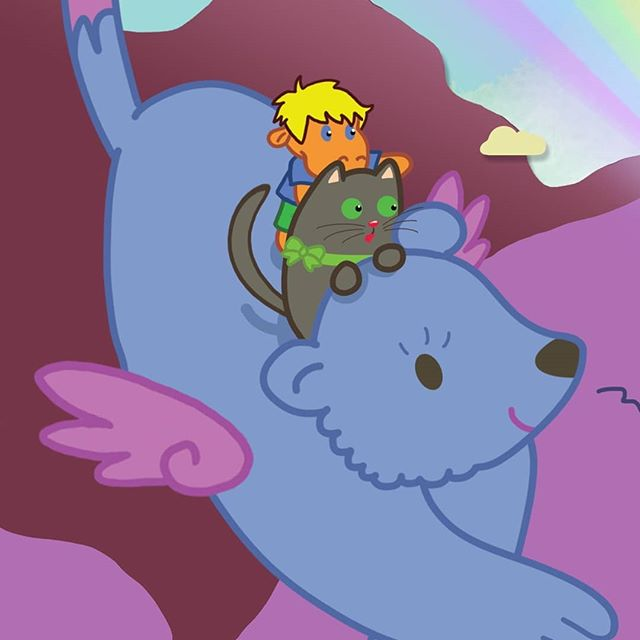 Part of an illustration from Hollie and Figgs: The Missing Rainbow. I just love one of our new characters called Smudgers who Beth my illustrator created for me. He is just perfect and children love him. 💙 If you want to check out Beths other work  you can @awkwardbirdsillustrations. 💕🐾👸🏼🐱🏰🌈💕 . . . #book #books #author #animals #illustrations #illustrator #fairytale #love #cute #cutecat #pet #sweet #story #catsofinstagram #catsofig #pintrest #fantasy #children #childrensbook #kidslit #kids #instagood #instadaily #greycat #hollieandfiggs #picture