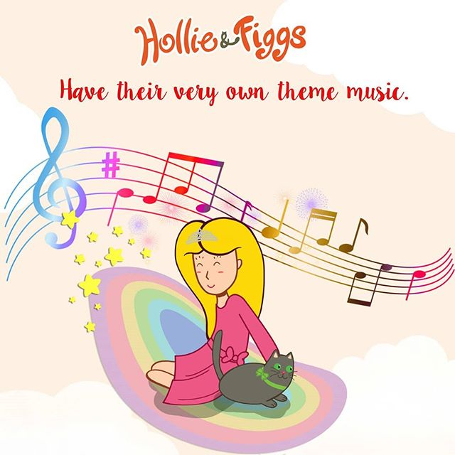 Hollie and Figgs have their very own theme music. Its so cute. You can hear it if you go on my website www.hollieansfiggs.co.uk or to the link in my profile. Let me know what you think. 🎤🎼🎹🎧💜