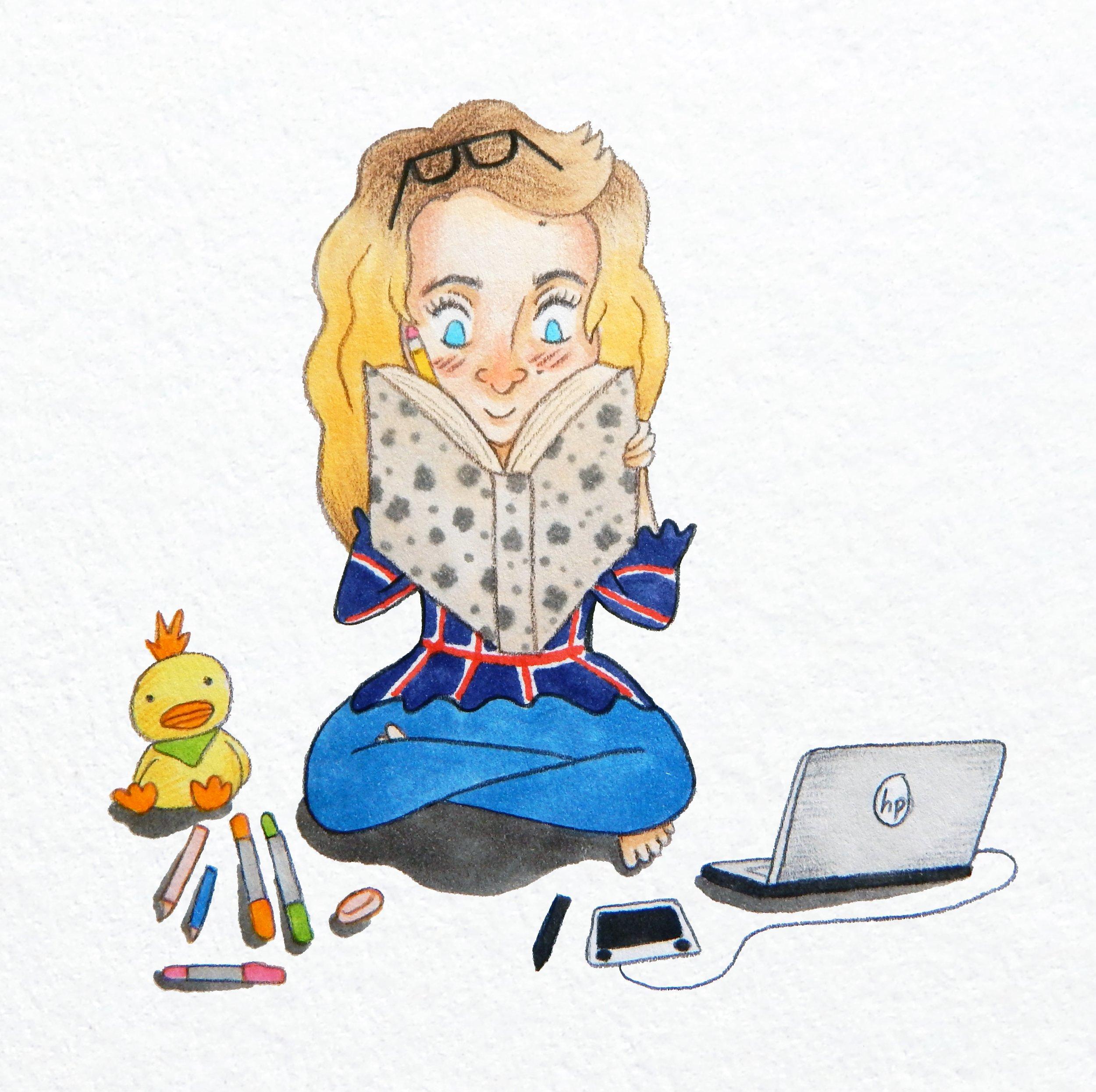 Hollie and Figgs: The Missing Rainbow illustrator Beth Hilliard