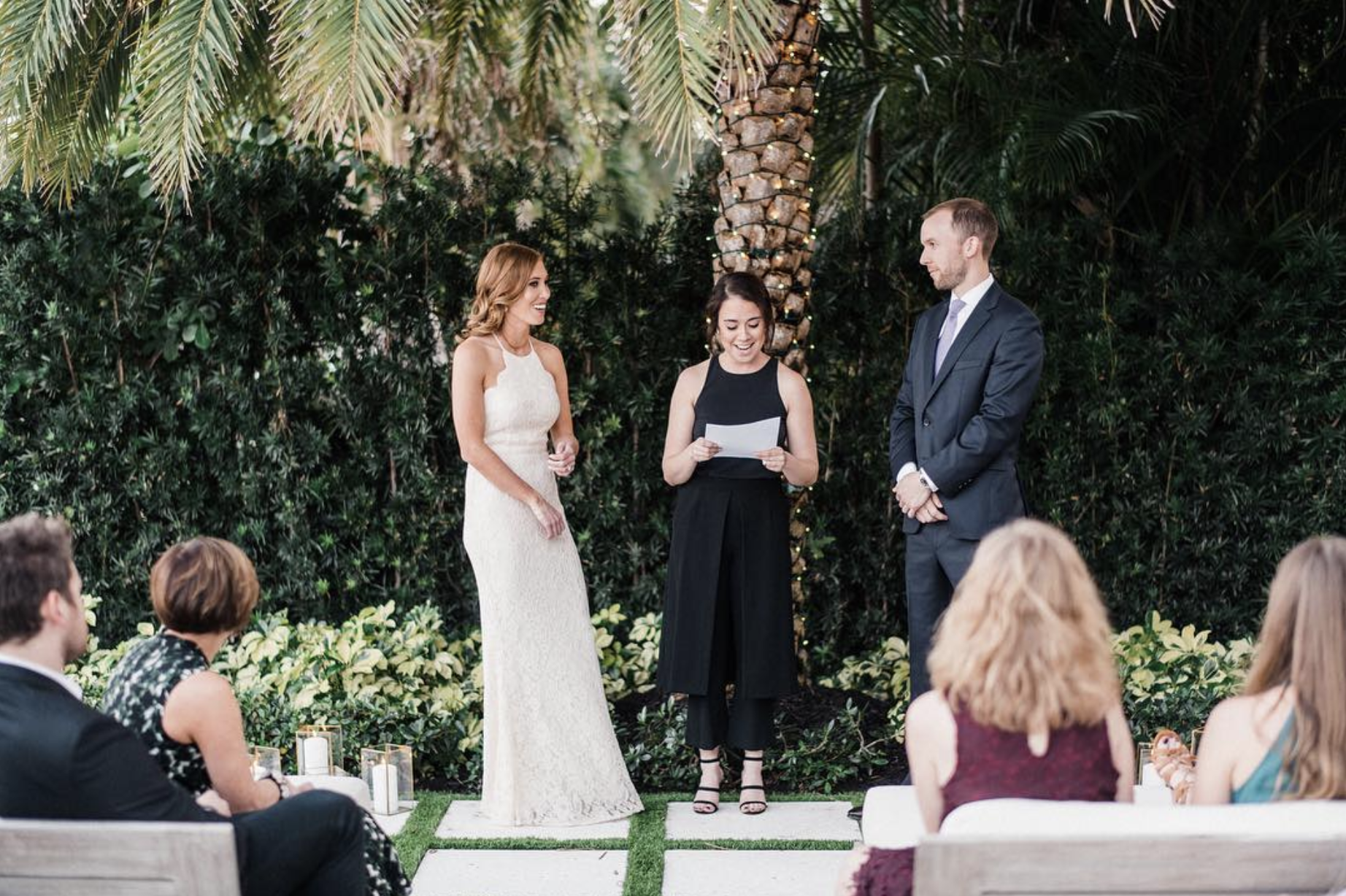 Officiant Services - Officiant Services: $600Includes:— Initial Meeting & Questionnaire— Rehearsal— Officiate Wedding Ceremony