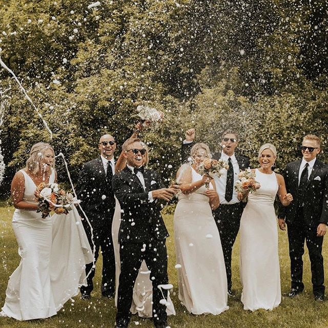 No matter the day... Any client of our knows we love a good champagne shower! 🍾 @missallieblack