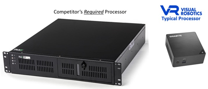 """""""They"""" require a 19"""" rack mount processor. We are fine with an I7-class PC such as the BRIX computer on the right- and we still run faster."""