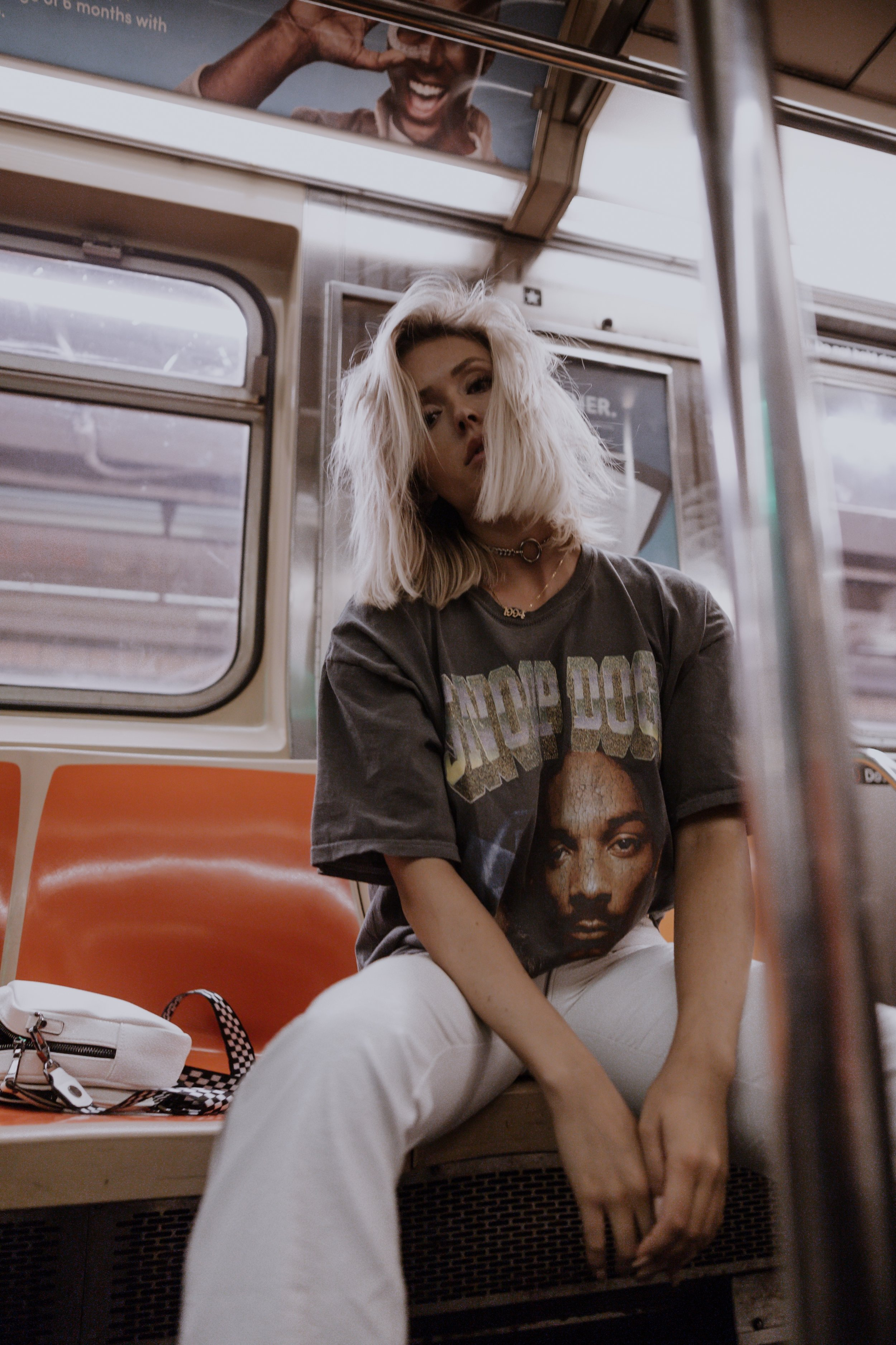 Snoop Dog Graphic Tee for the Win - Oversized graphic tees in general are my jam. Especially when paired with a dope pair of pants (like these I.Am.Gia zipper and snakeskin ones) and a metal choker (f*ck yes). Going out? graphic tee and badass, platform boots.. running errands? graphic tee and biker shorts.. Going to bed? graphic tee and sweatpants.. Going to a buffet? graphic tee gunna cover that food baby.