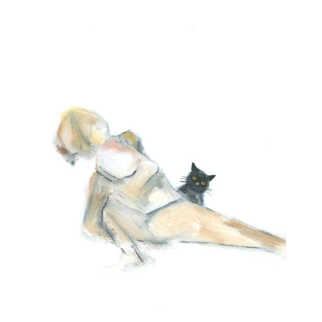 Black Cat Says Hi