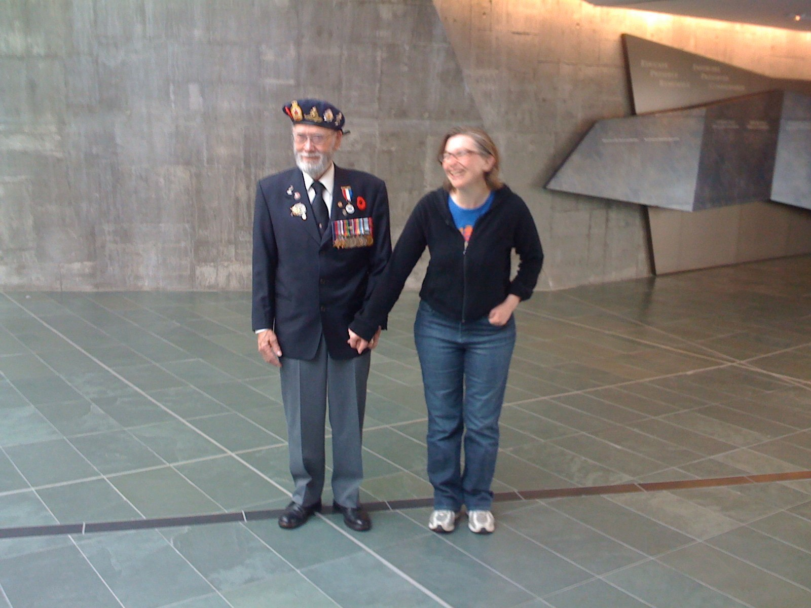 Art Heximer at the War Museum