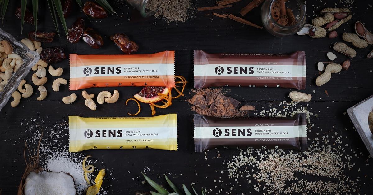 SENS produziert Protein- und Energy-Riegel mit Grillenmehl. Lecker!