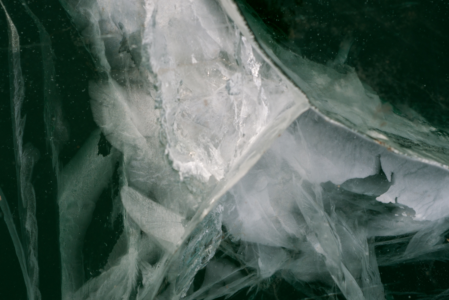 Color Photograph, Ice, Pond, Frozen, Midwest, Interior Design, Wall Art