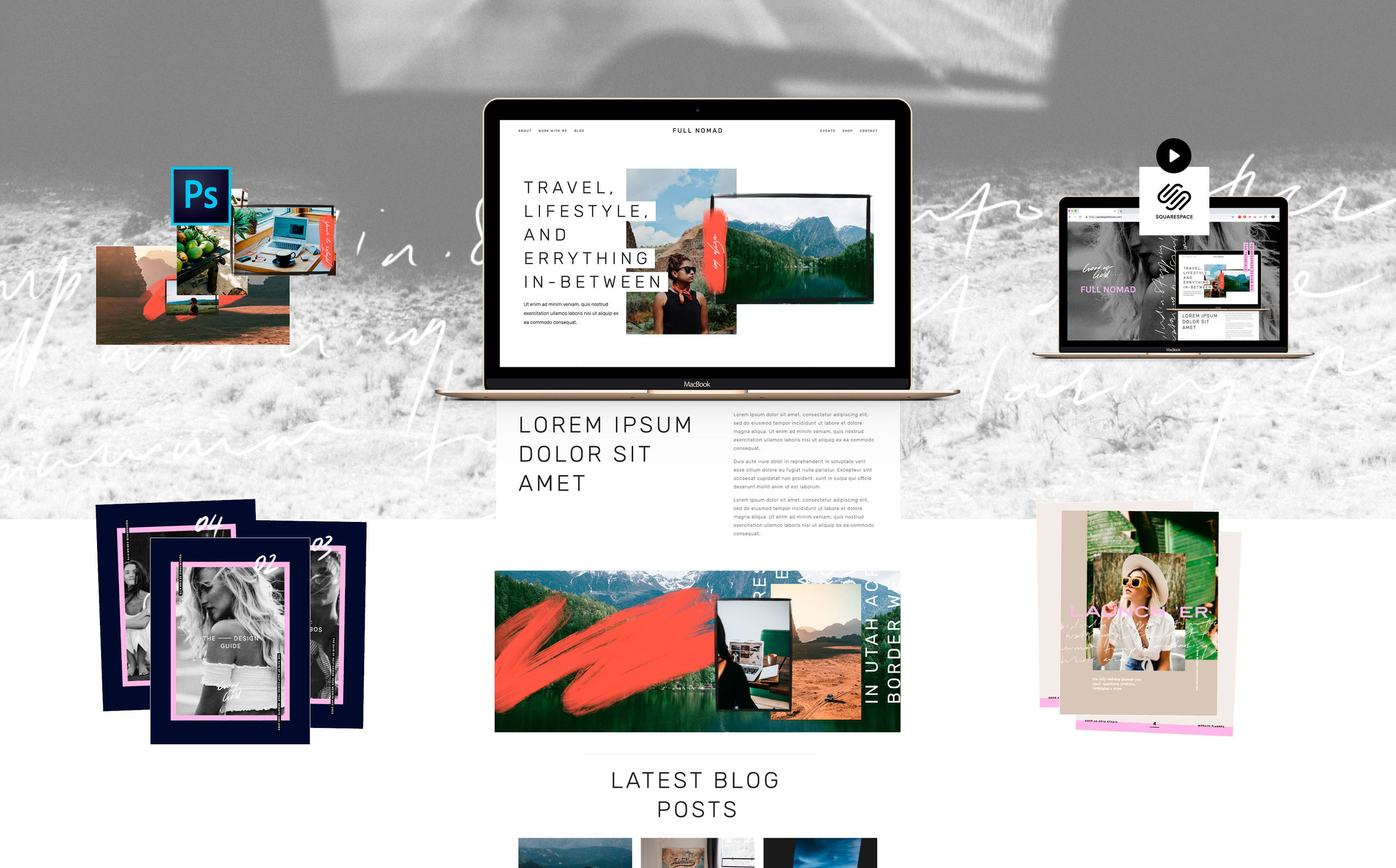 Squarespace Design Kit |Good As Gold Studio | Squarespace Design Kit Templates & DIY Branding