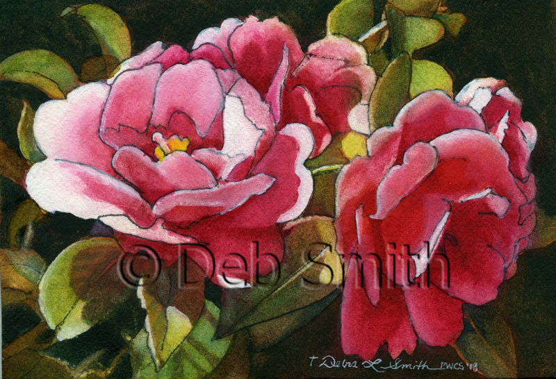 Deb, Debra, Smith, artist, watercolors, original