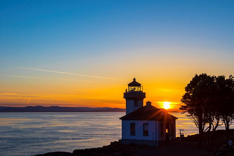 The Lighthouse at Lime Kiln Point! Photo from  Washington State Parks.