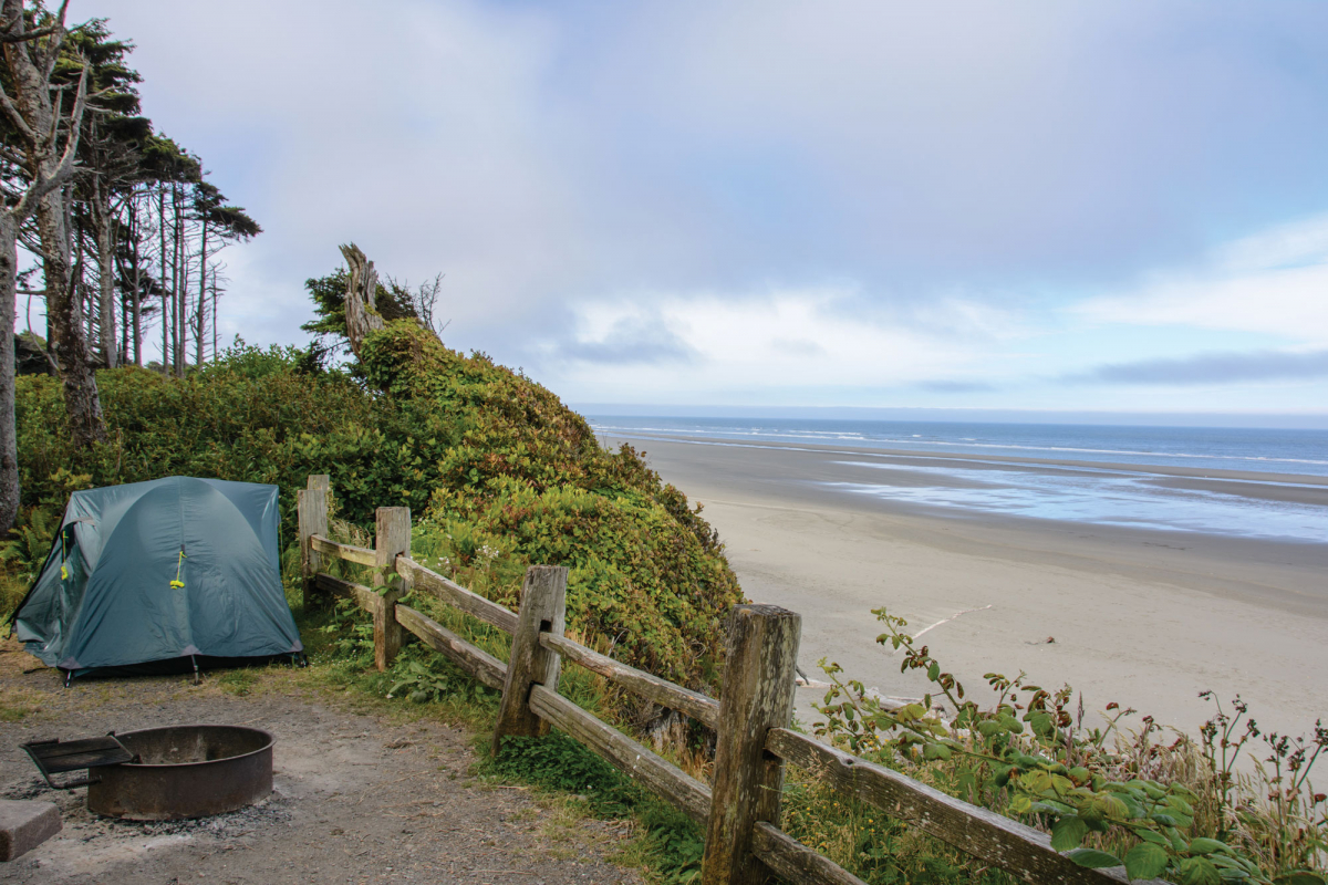 Kalaloch Campground. Photo from  Seattle Mag Article: 10 Perfect Washington State Campsites