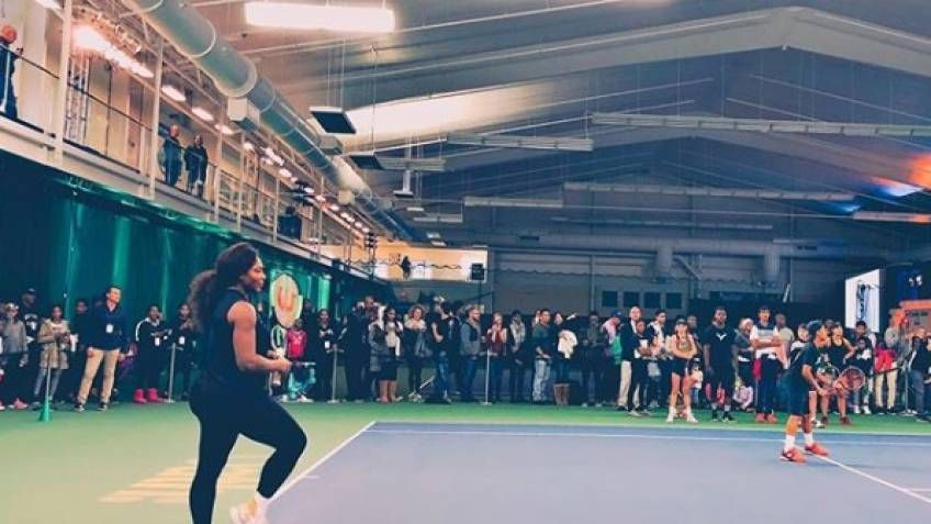 Serena Williams at the Grand Opening of the Southeast TEnnis & Learning Center