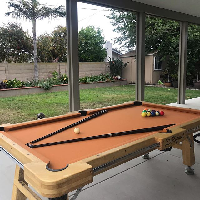 What makes a backyard party even better?  A pool table!!! All set up and ready to play. #billiards #party #partyideas #eventplanner  #weddingplanner #partyplanner