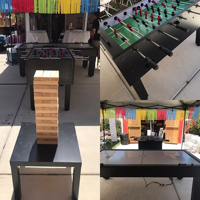 When you turn 84 you throw a massive party!! Giant Jenga, Air Hockey and Foosball. #party #birthday #birthdayparty #event #eventplanner #partyplanner