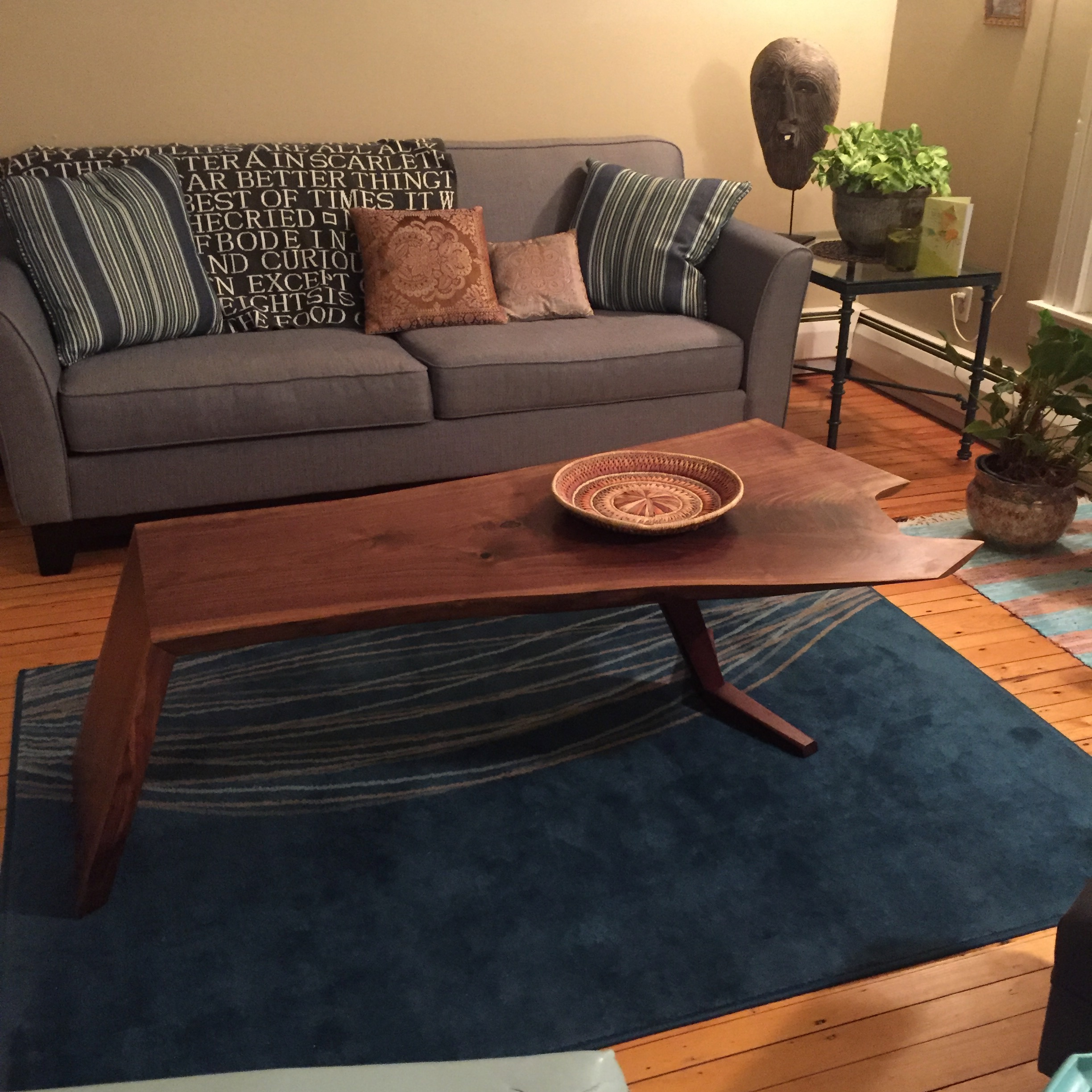 Reflex Coffee Table - Walnut - 18 x 60 x 22
