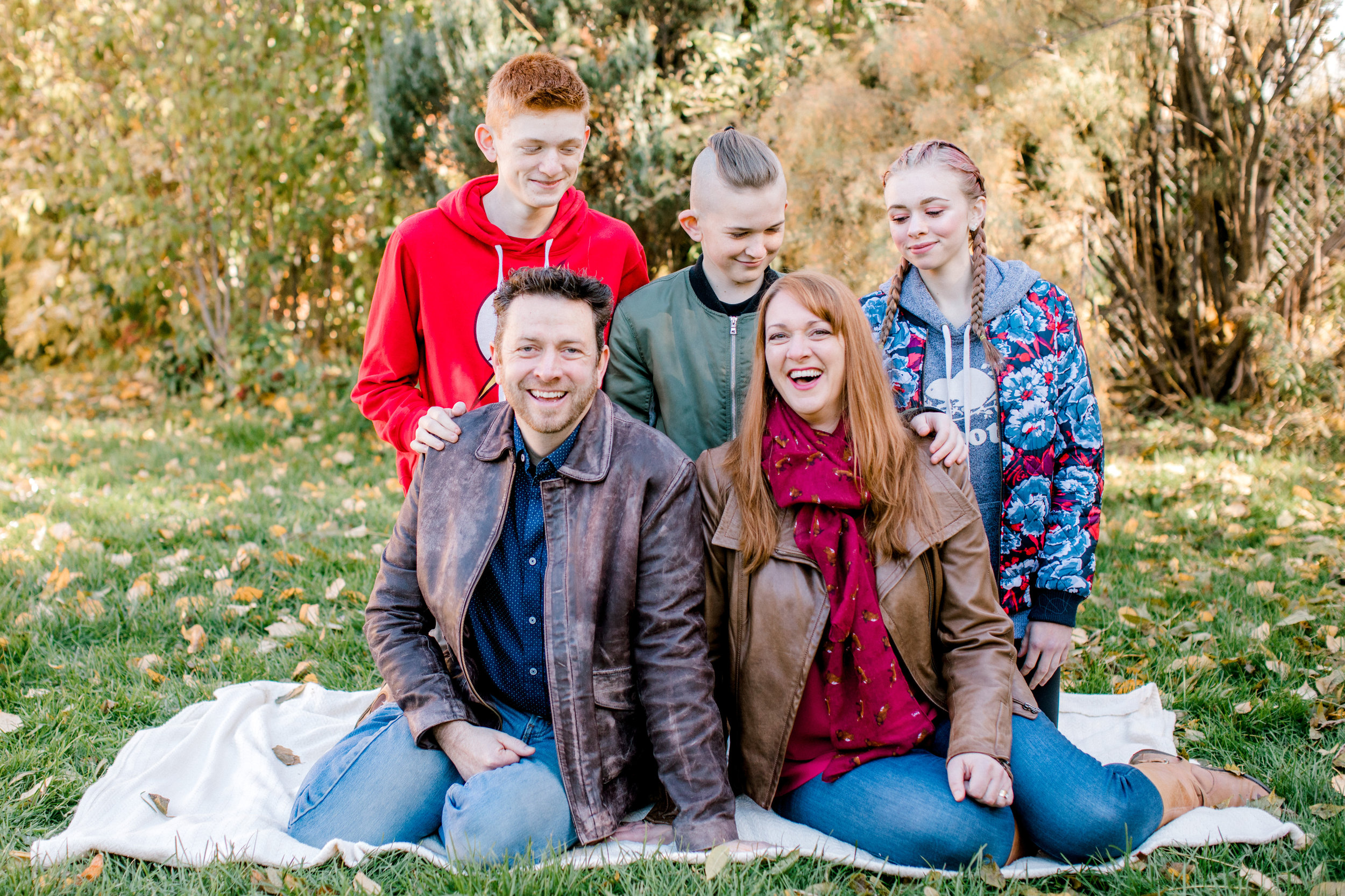 The Donnelly family out in the park for a seasonal photoshoot.  Photo courtesy of Michelle Donnelly