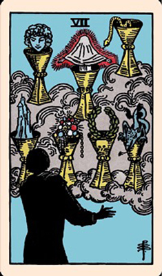 Rider Waite Smith - 7 of Cups