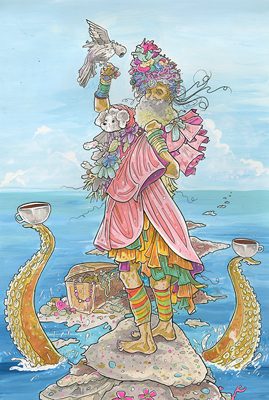 Next World Tarot - Queen of Cups (included with permission)