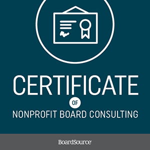 certificate for nonprofit board consulting