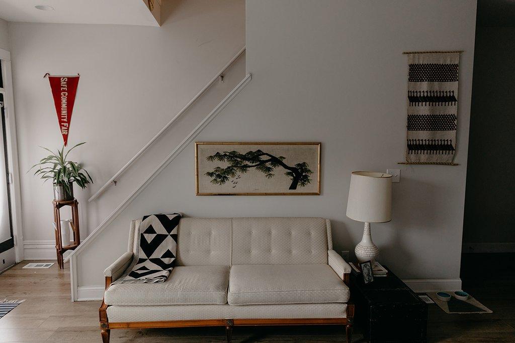 modern vintage style living room