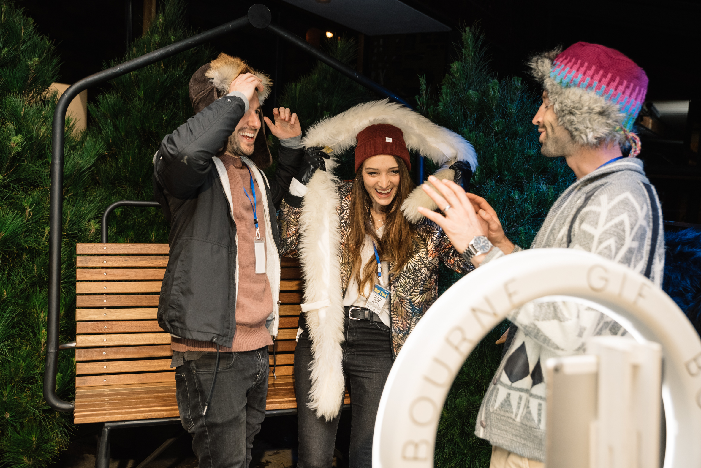 Mont Plonk Opening Party   Venue: Melbourne Public  SGB Highlights: The ski chair lift + Christmas trees!