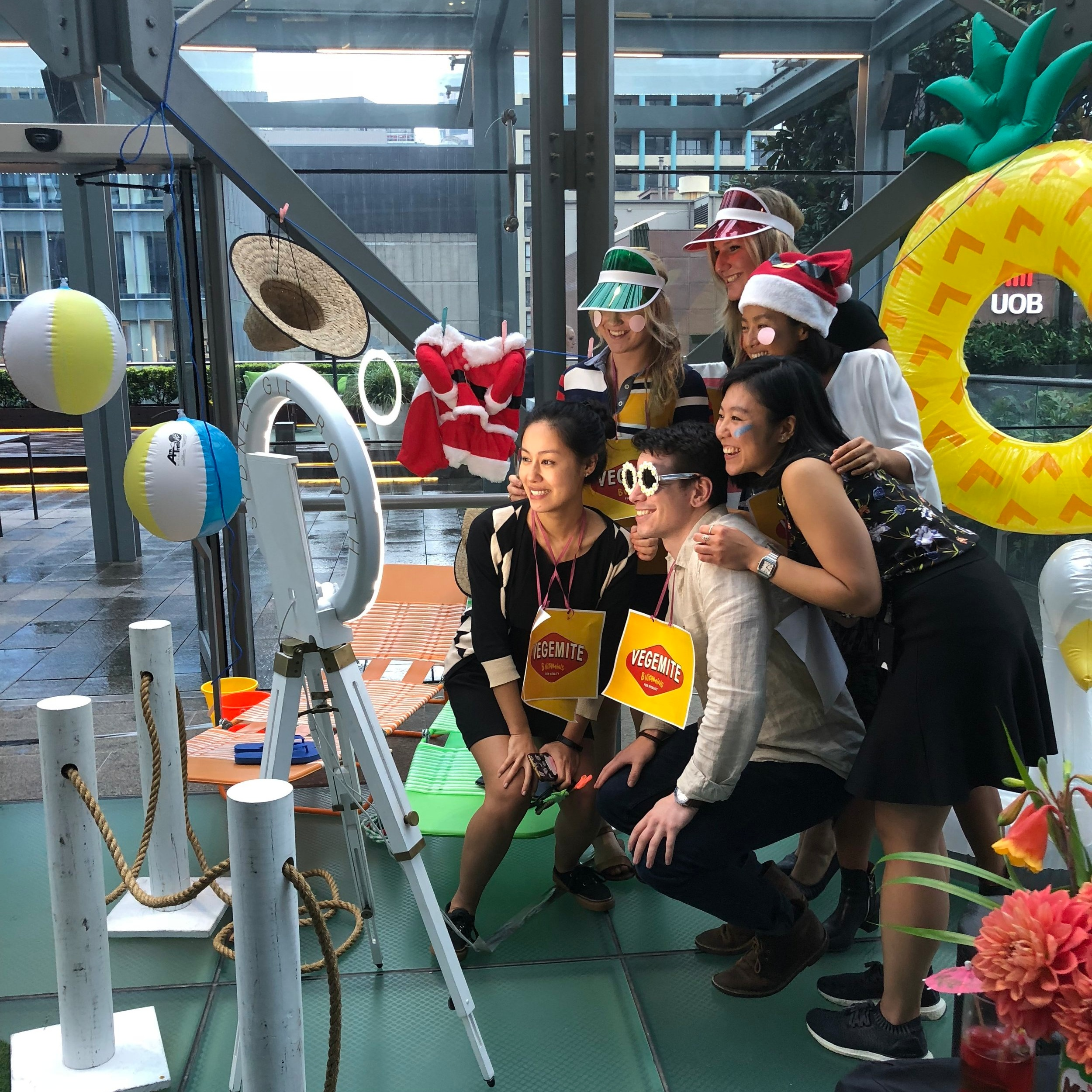 Ashurst Christmas Party     Venue: Ashurst Terrace, Sydney    SGB Highlights: The combo of santa outfits and pineapples…
