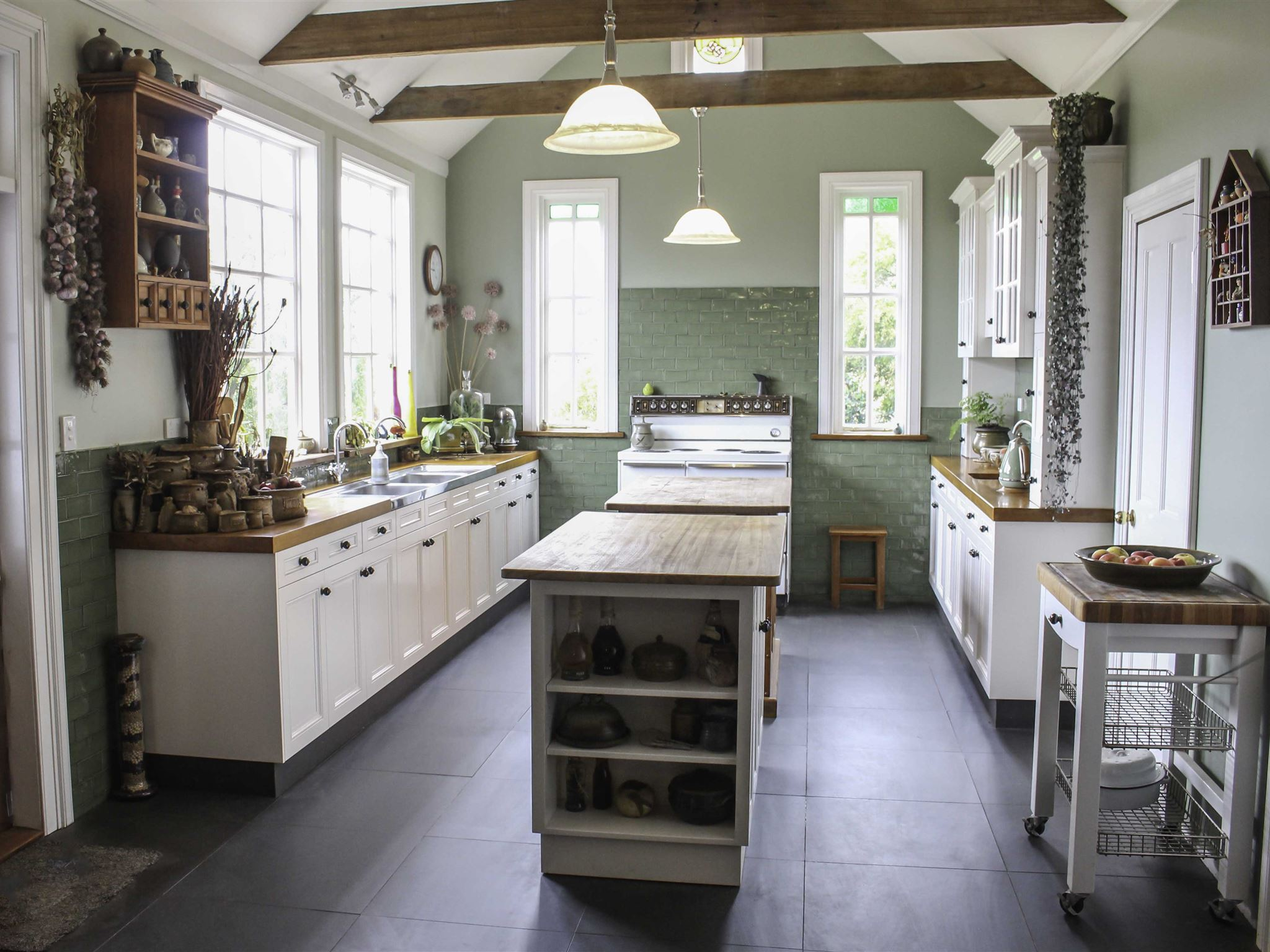 The stunning Farmhouse Kitchen - spend up to two days learning the secrets of real Italian cooking.